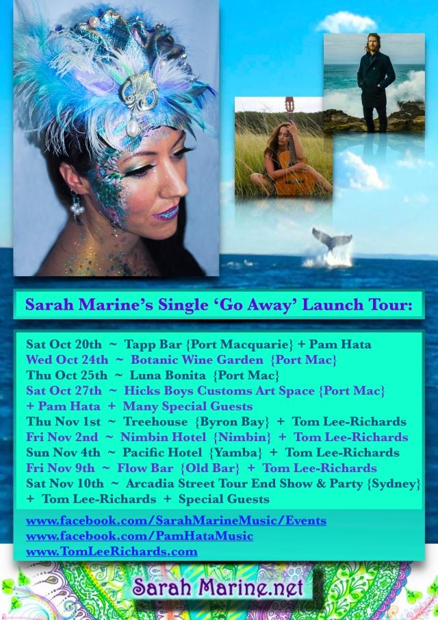 ~ Sarah Marine Tour Dates 2018 Poster ~ ALL JPG
