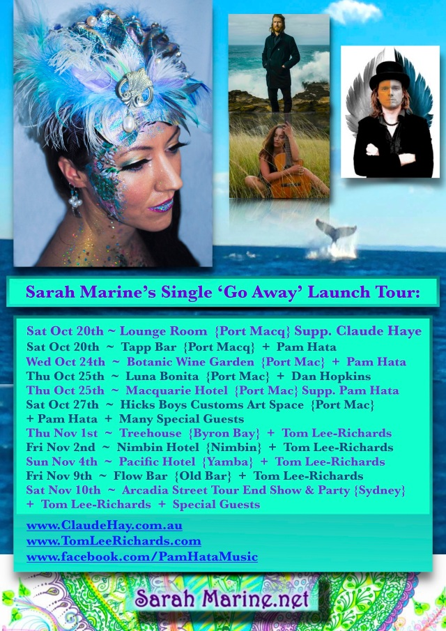 ~ Sarah Marine Tour Dates 2018 Poster ~ ALL FINAL {PAGES}